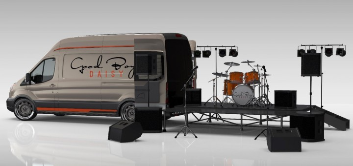 Rock Band 'Good Boy Daisy' Puts Their Ford Transit Wagon On Display: SEMA 2016