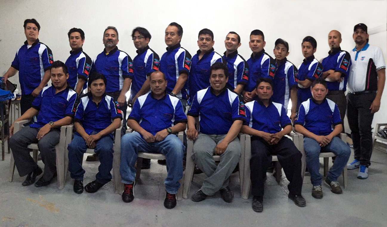 The Trainer and Trainees in Guatemala